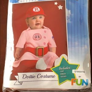 Baby girl Rockford peach/Dottie Hinson Costume
